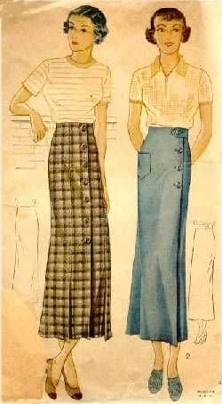 1930s skirts